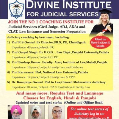 Divine Institute – CLAT Coaching In Chandigarh